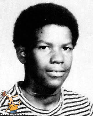Young Denzel Washington before he was famous yearbook picture