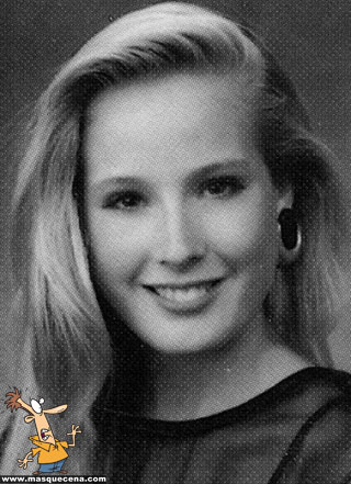 Young Dita Von Teese yearbook picture