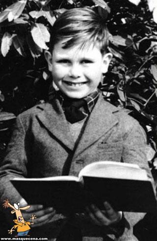 Young Elton John as a boy
