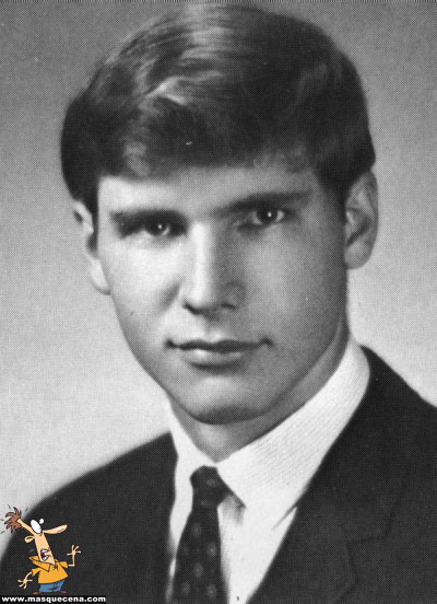 Young Harrison Ford before he was famous yearbook picture
