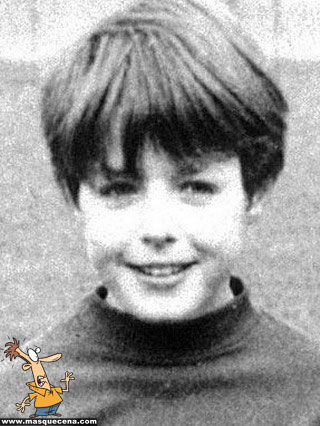 Young Hugh Grant as a kid