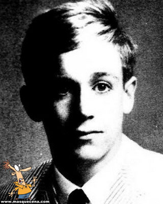 Young Iggy Pop short hair before he was famous yearbook picture