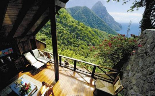 Vista de excelente paisagem a partir de uma casa de campo