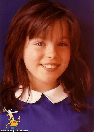 Young Kate Beckinsale as a girl