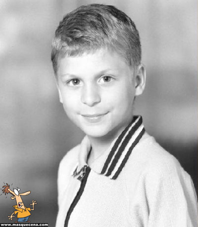 Young Michael Cera before he was famous yearbook picture