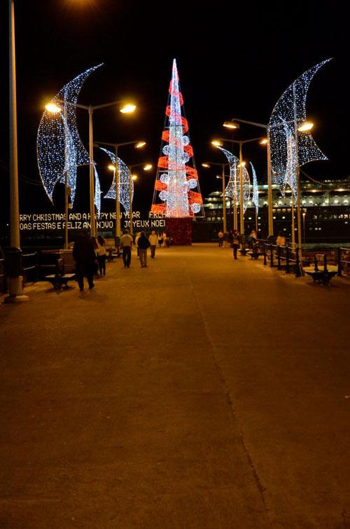 Iluminação de Natal no Cais e Porto do Funchal