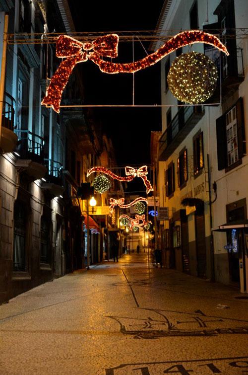 Iluminação de Natal na Rua João Tavira, Funchal