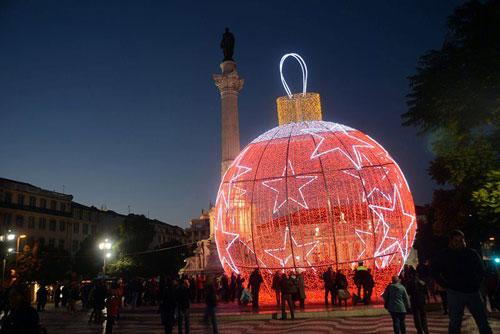 Iluminações de Natal no Rossio